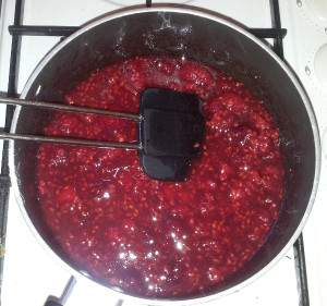 Cooking raspberries
