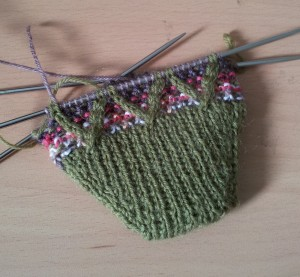 Work in Progress Wednesday Mosaic Sock