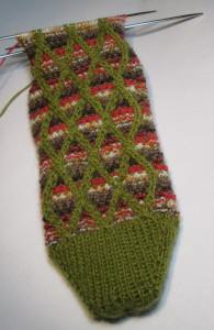 Twisted Mosaic Sock